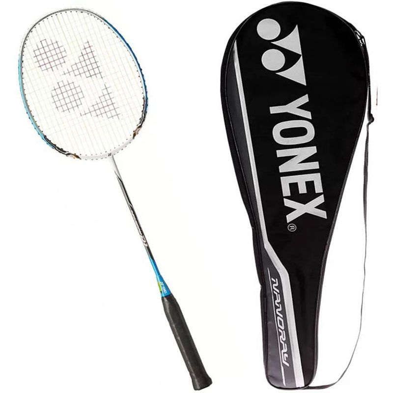 Yonex Nanoray D1 Isometric Shape With Graphite+Inanomesh Carbon Nanoytube G4 Strung  (Multicolor, Weight - 95 g)