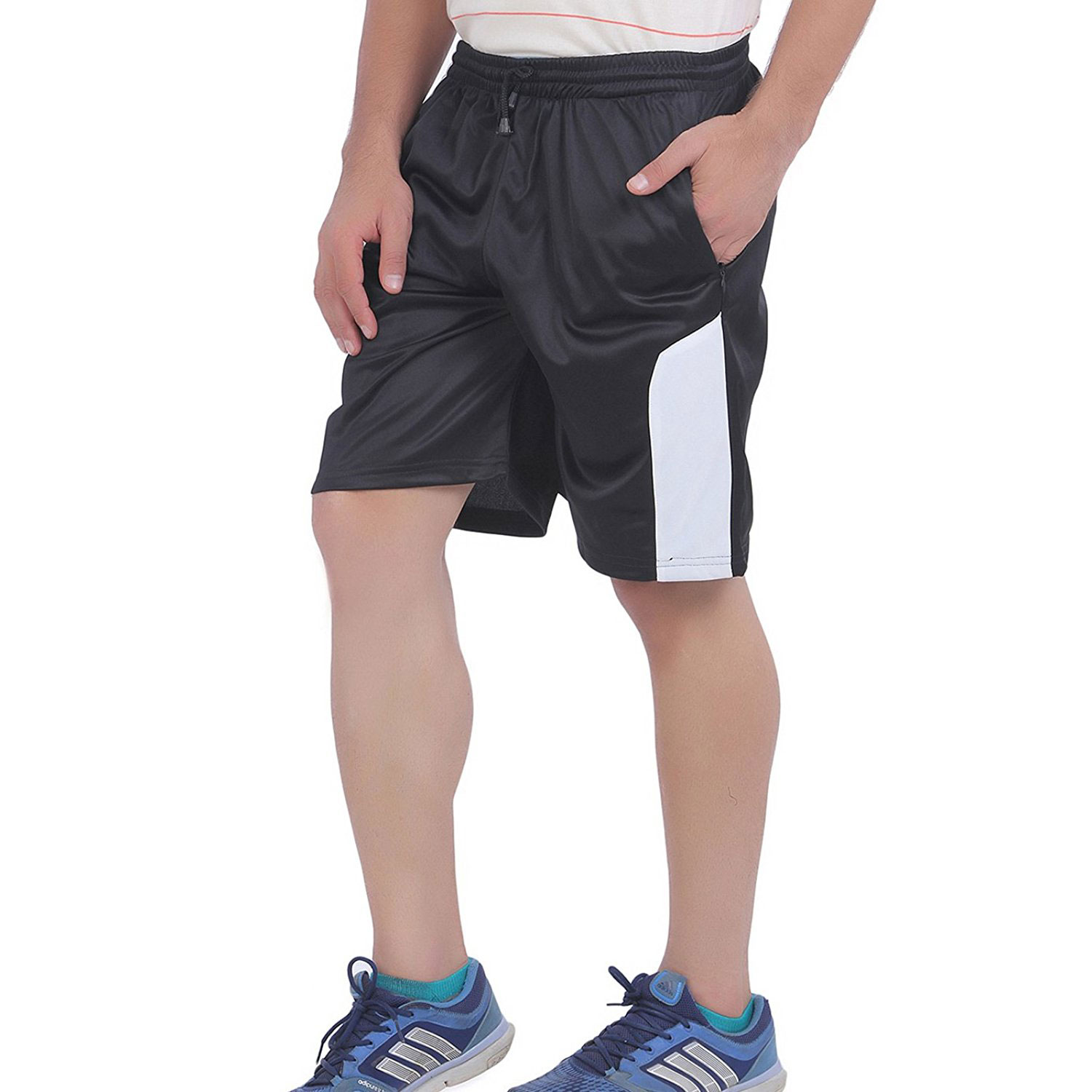 American Crew Men's Polyester Shorts (Black)