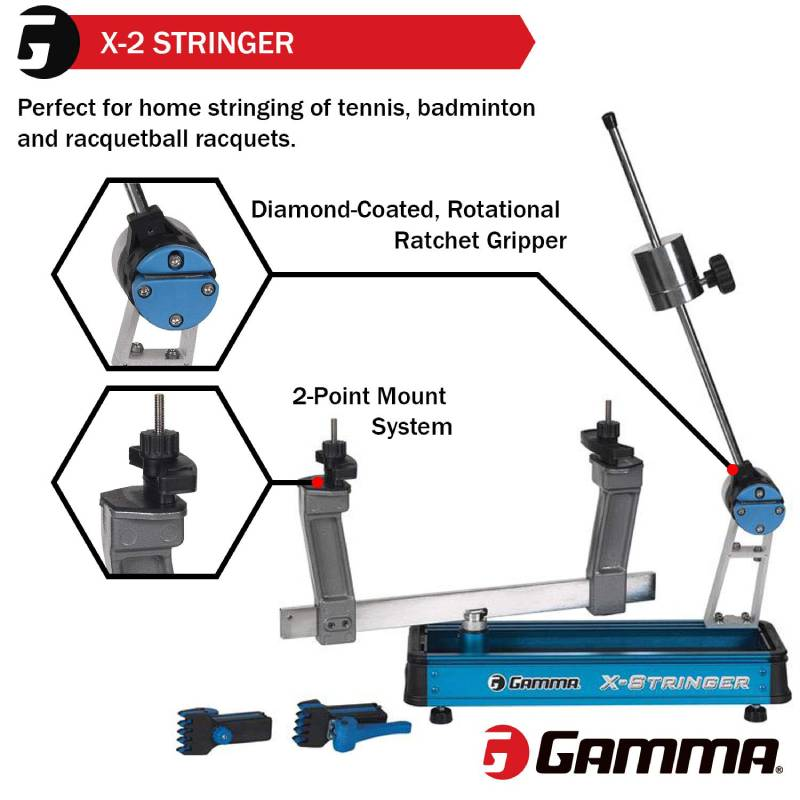 Gamma X-Stringer Tennis Racquet Stringing Machine: Tabletop Racket String Machine with Tools and Accessories