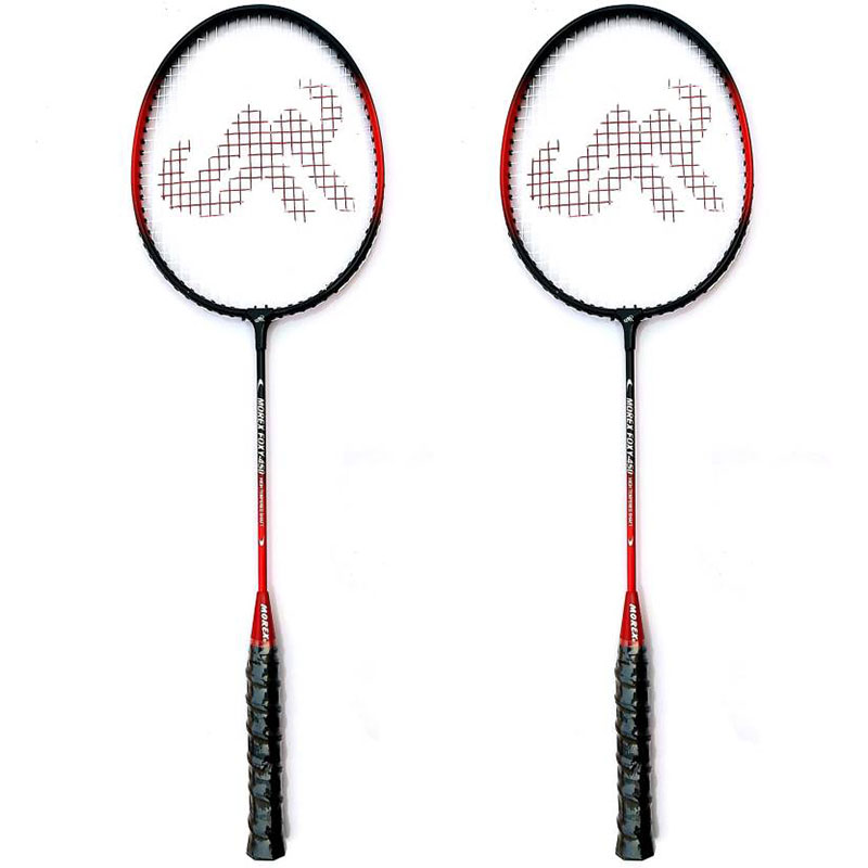 Morex 450 Badminton Racquet ( Set Of 2 Racquets ) Red G3 Strung  (Red, Weight - 115 g)