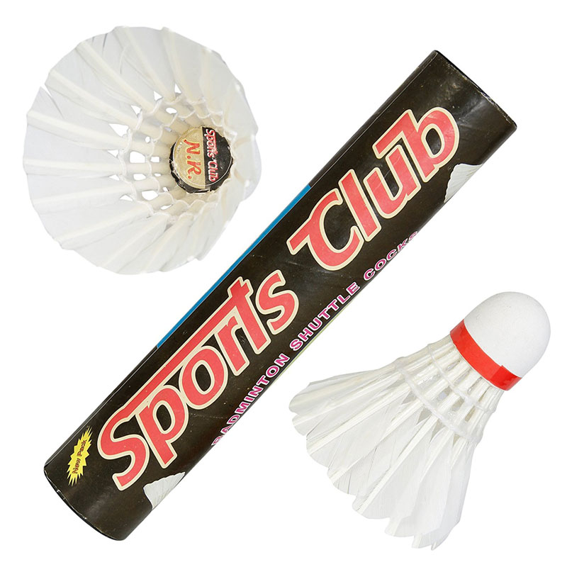 SC-10 Sports Club Strong Feather Badminton Shuttlecocks (pack of Ten).