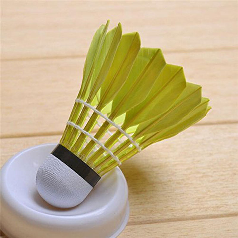 Generic 12 pcs Goose Feather Shuttlecock Professional Training Durable Badminton Accessories