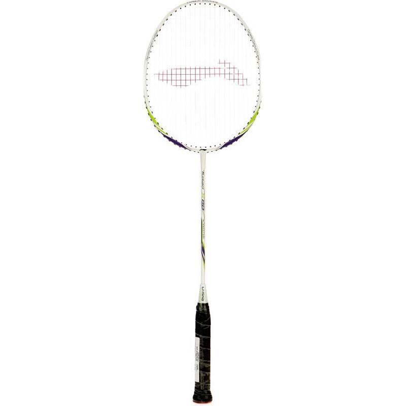 Li-Ning TURBO-X 80 (String Tension Up to 32 LBS) S2 Strung  (White, Weight - 87 g)