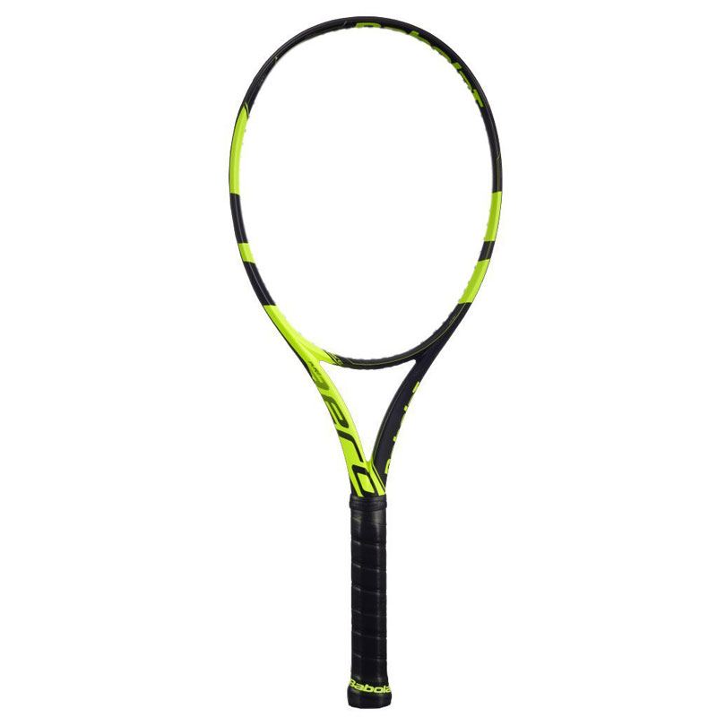 Babolat Pure Aero Graphite Tennis Racquet with Cover, 4 3/8-inch (Black/Yellow)