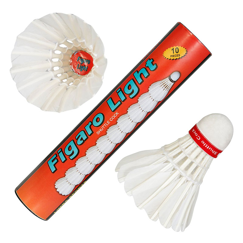 FL-10 Figaro Light Strong Feather Badminton Shuttlecocks (Pack of Ten).