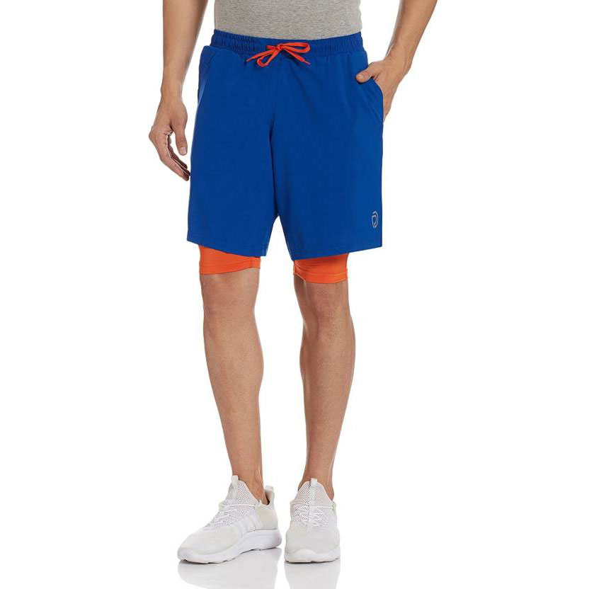 Sports Shorts With Phone Pocket for Men by TRUEREVO- Double Layered