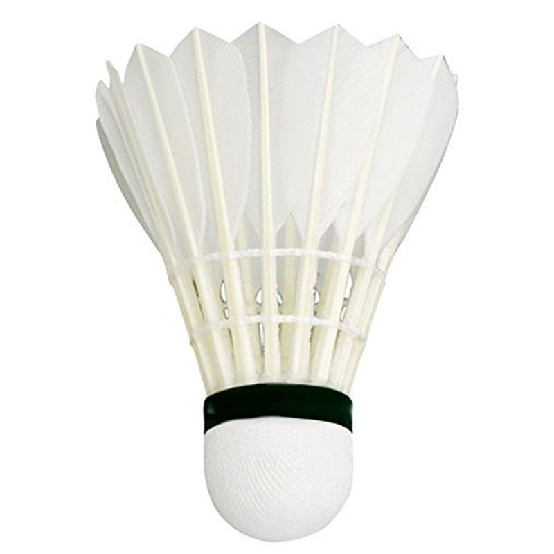 Plutofit® Feather Badminton Shuttlecock (White) - Pack of 10