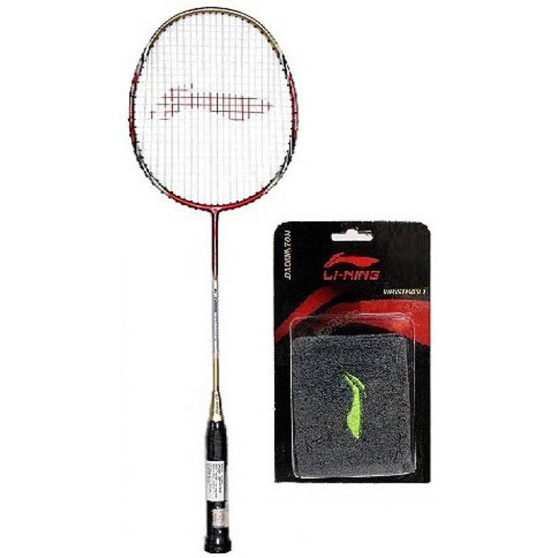 Li-Ning Combo Of Two- One 'G-Force Pro 2200i' Badminton racket and One Wrist Band (Color On Availability) - G4 Strung  (Red, Weight - 95 g)
