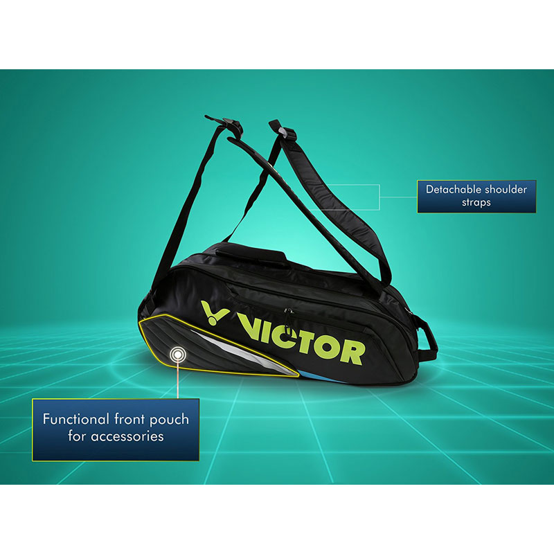 Victor Professional Badminton Kit Bag BR-8208 In 3 Different Color (12Pcs Racket Storage Space)
