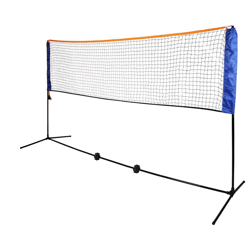 Oypla Medium 4m Adjustable Foldable Badminton Tennis Volleyball Net