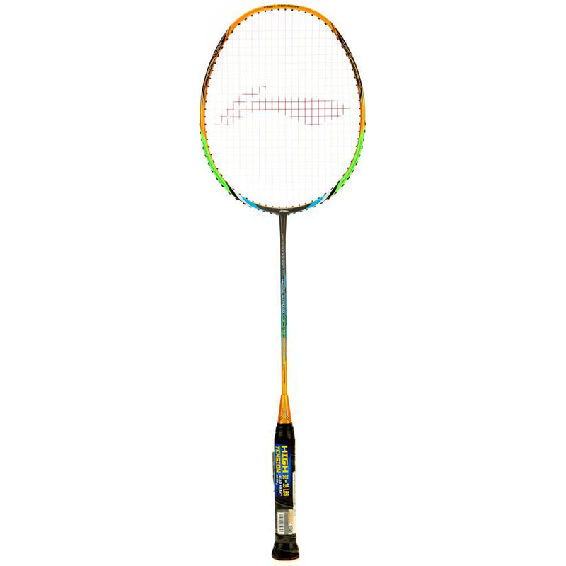 Li-Ning US-978 (String Tension Up to 35 LBS) S2 Strung  (Gold, Grey, Weight - 82 g)