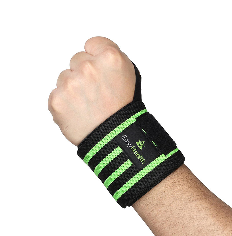 EasyHealth PROFESSIONAL GRADE WITH THUMB LOOPS Fitness Grip  (Black, Green)