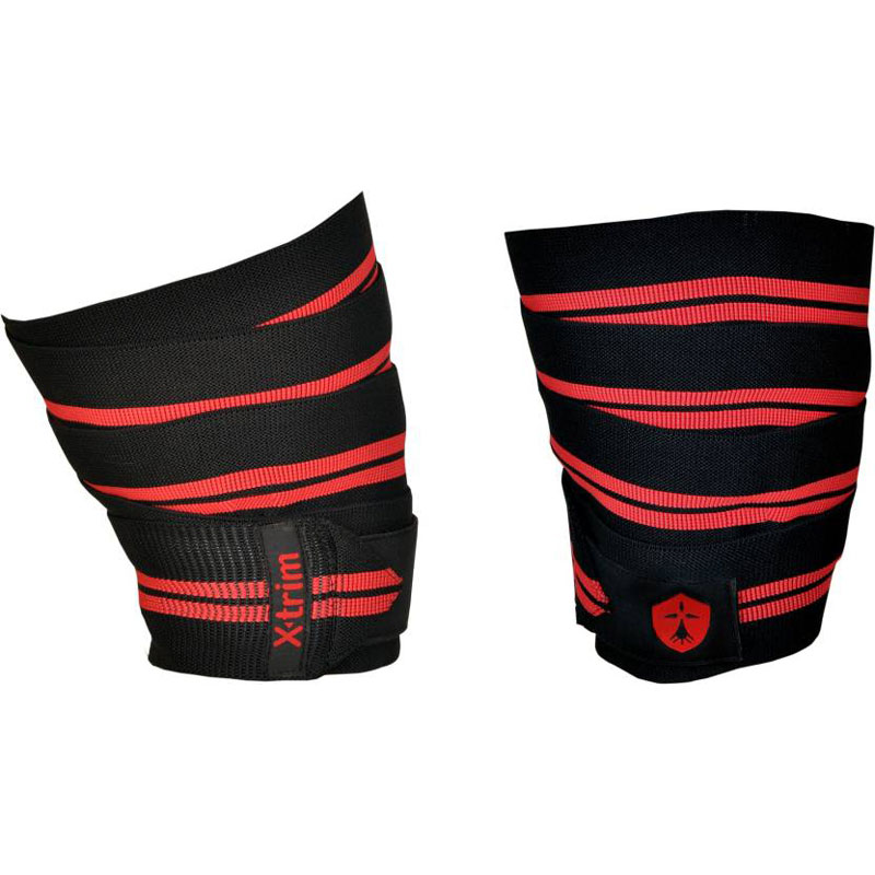 XTRIM DURAFIT KNEE WRAP - PACK OF 2 Knee, Calf & Thigh Support (Free Size, RED LINE)