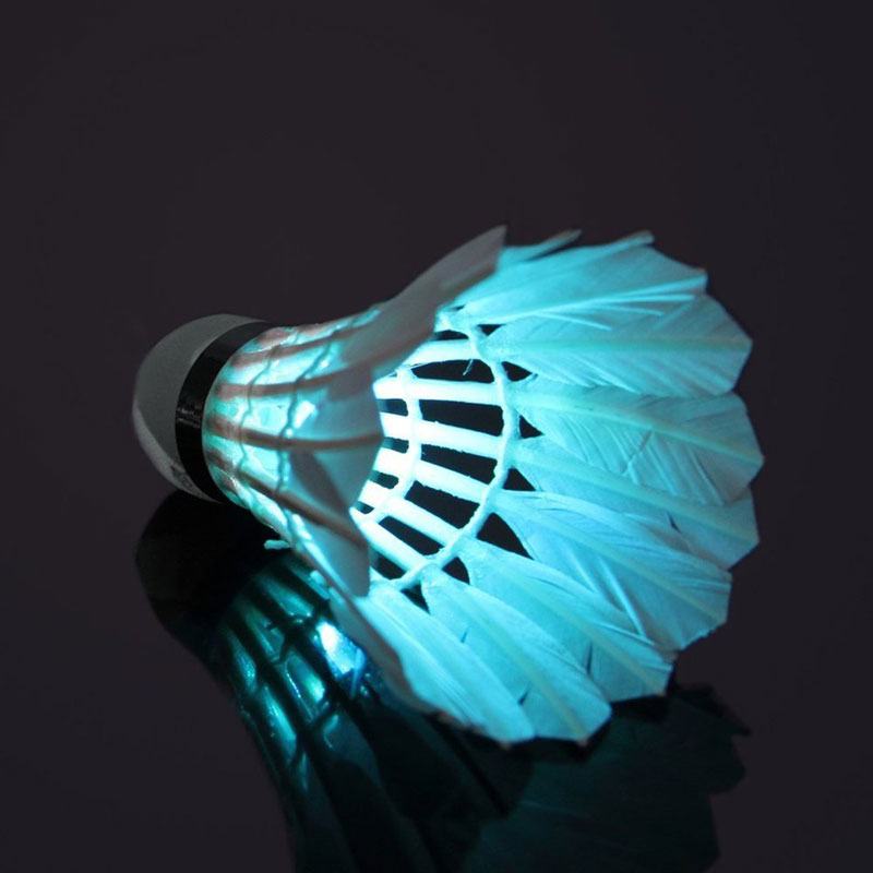 Dark Night Colorful LED Lighting Sport Badminton Light Spot Shuttlecock
