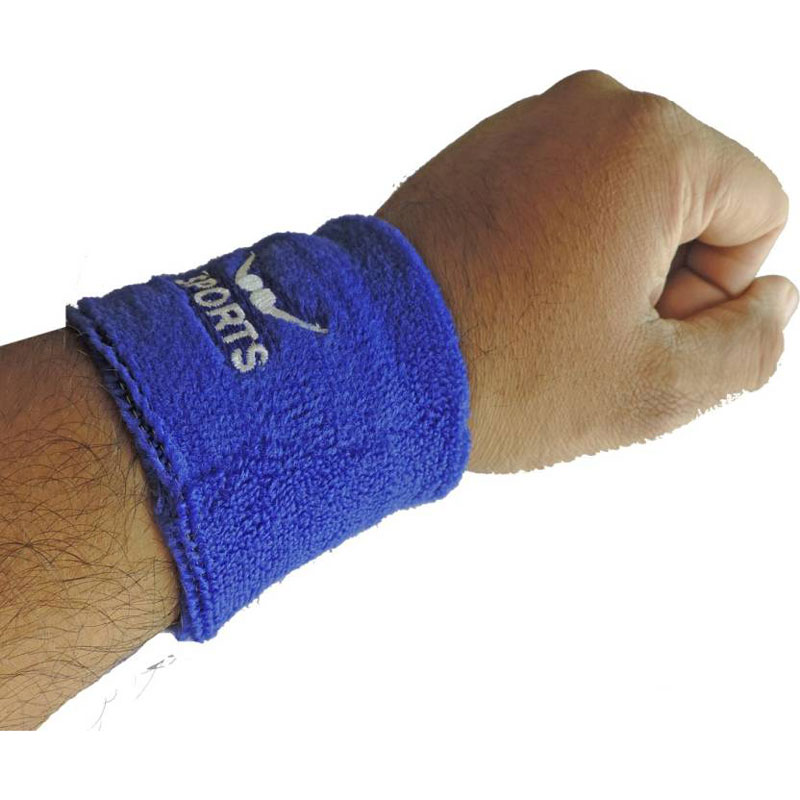 Hipkoo winner Sweatband wrist band / wrist support (left and right 2pcs) Fitness Band  (Blue, Pack of 2)